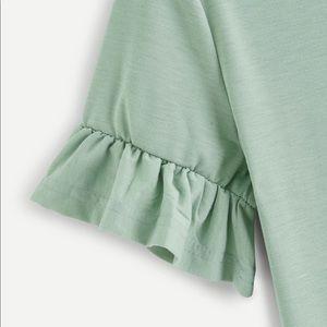 SHEIN Tops - 🆕 SHEIN Ruffle Sleeve Tee